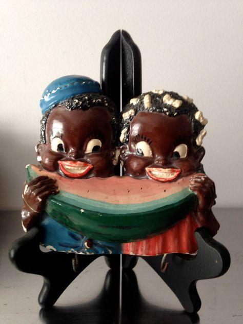 Black Americana Vintage Label Magnet Watermelon Freeze 5 Cents