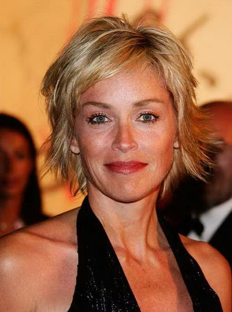 Sharon Stone Hair Style From The Back Short Shag Hairstyles Sharon Stone Short Hair Short Hair Styles
