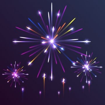 Colorful Fireworks Firework Light Sparkle Png And Vector With Transparent Background For Free Download Fireworks Sparkle Png Transparent Background