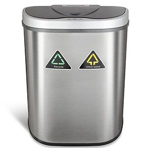 3 Ninestars 18 5 Gal 70 L Trash Can Dzt 70 11r Trash Can Kitchen Trash Cans Recycle Trash
