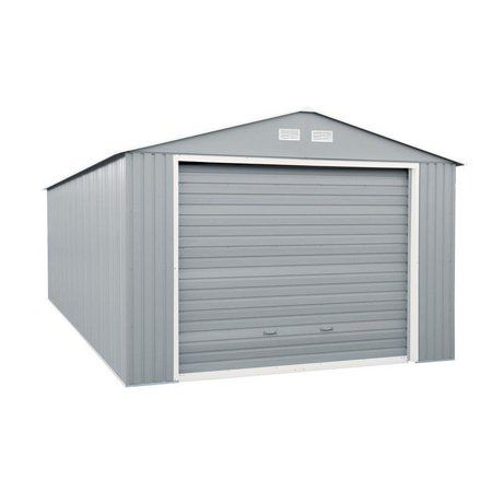 Duramax Building Products 12 X 20 Ft Imperial Metal Garage Walmart Com Metal Garages Metal Building Designs Steel Storage Sheds