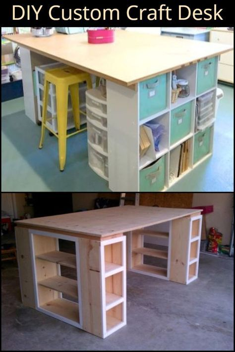 How To Build A Custom Craft Desk The Owner Builder Network Sewing Room Design Craft Room Tables Craft Desk