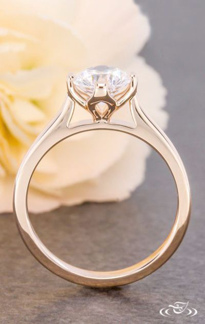 Silver Tahitian Cultured Diamond Accents Classic Engagement Ring Solitaire Womens Engagement Rings Antique Engagement Rings