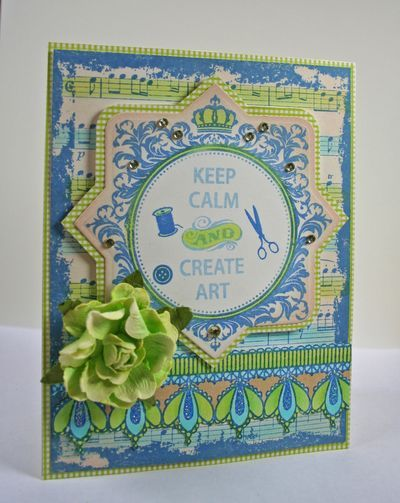 JustRite Card designed using new Just Keep Calm stamps.  Card designed by Kellie Fortin