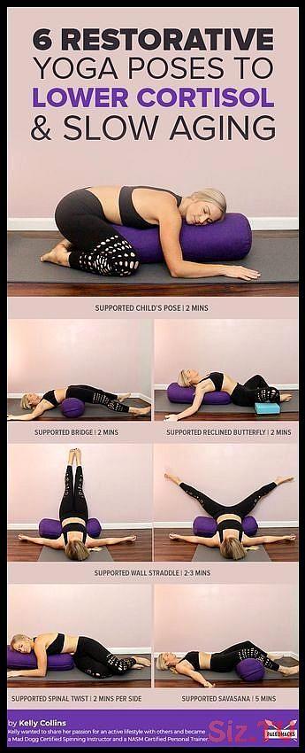 Melt Into This Restorative Yoga Routine To Lower Cortisol 038 Slow Aging Melt Into This Restorative Yoga Ro Relaxing Yoga Restorative Yoga Poses Yoga Routine