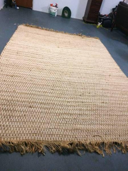 Rattan Rug Rugs On Carpet