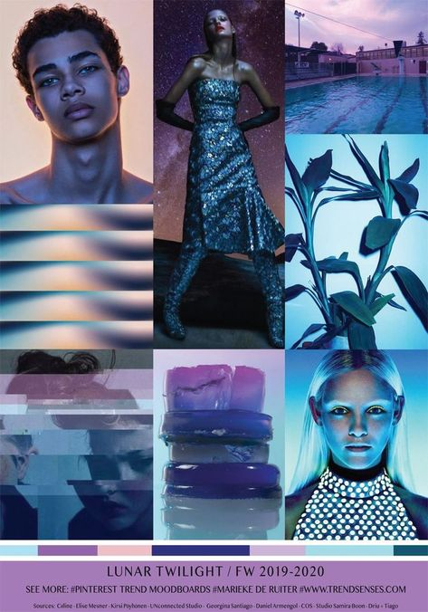 MOODBOARD - LUNAR TWILIGHT - FALL WINTER 2019/2020 - #fall #LUNAR #MOODBOARD #TWILIGHT #Winter
