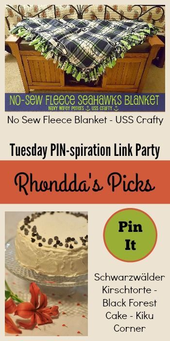 Rhondda S Picks No Sew Fleece Blanket Black Forest Cake