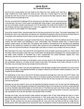 This Reading Comprehension worksheet is suitable for upper intermediate to proficient ESL learners. The text gives a summary of Charlotte Brontë'S