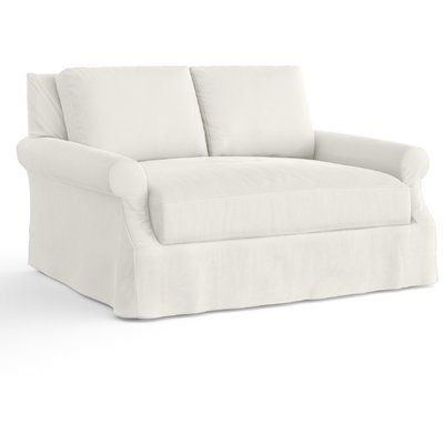 Feminine French Country Bellevue Slipcovered Loveseat Love Seat Slipcovers Cheap Sofas