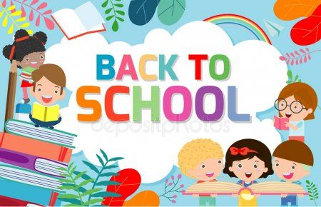 Back To School Banner Background Welcome Back To School Children Reading Book Cute School Kids Education Concept In 2020 Kids Reading Books School Banner Kids Reading