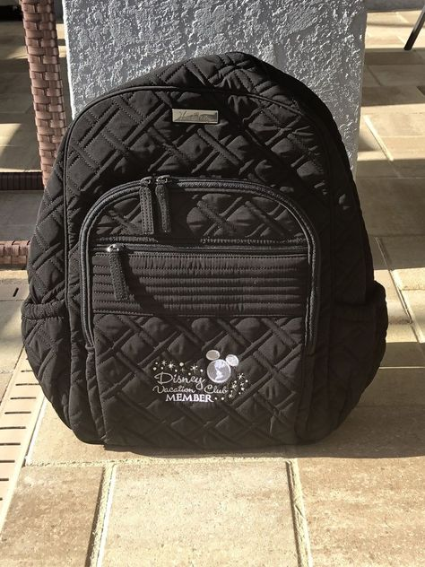dffb58abed7 Vera Bradley Disney Vacation Club Black Collection Campus Backpack DVC   fashion  clothing  shoes
