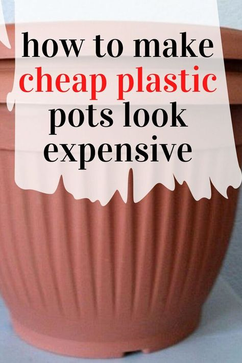 Decorate for cheap with these quick and creative plastic planter makeovers. Beautiful budget friendly pot upgrades for your front porch, backyard, bedroom, kitchen or living room home decor.