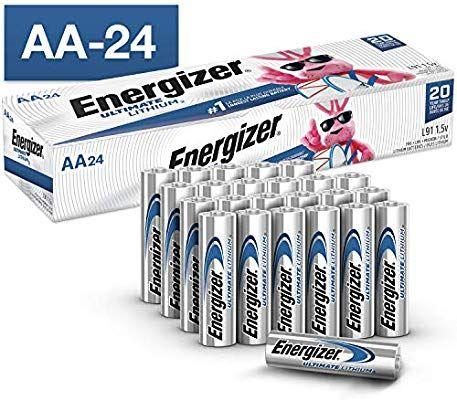 Amazon Com Energizer Aa Lithium Batteries World S Longest Lasting Double A Battery Ultimate Lithium 24 Battery Count Energizer Batteries Lithium Battery