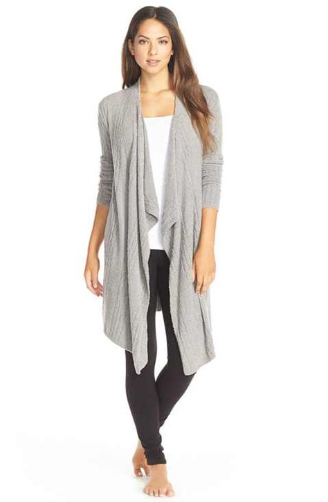 Barefoot Dreams® Barefoot Dreams® Cable Knit Drape Front Cardigan available at home from the hospital?