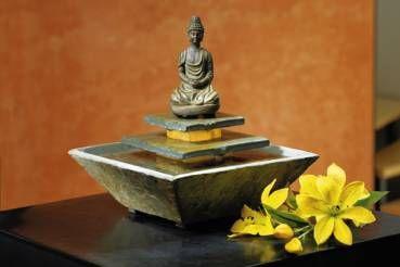 Schieferbrunnen Mahasa Buddha Brunnen Brunnen Und Zimmerbrunnen
