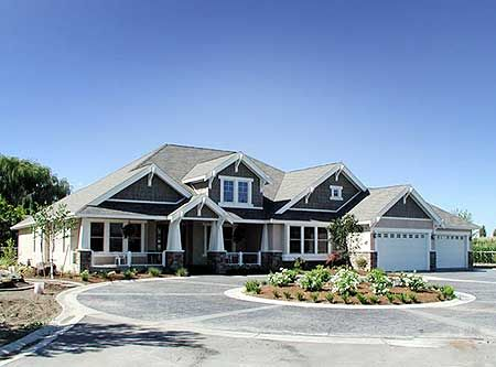 Exceptional Plan 23320JD: Modern Rambler With Upstairs Bonus Room | Rambler House Plans,  Bath And Spaces