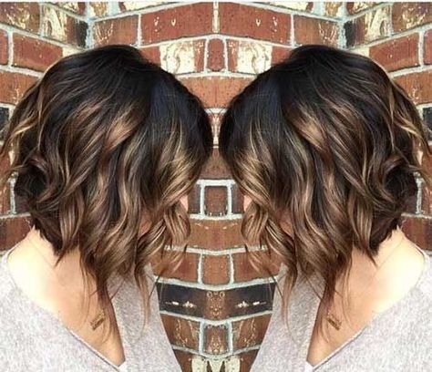 Ombre Curly Bob Haircut Beloved Brunette Bob Hairstyles For Ladies Hair Styles Short Hair Styles Hair Color