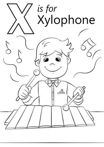 Letter X Coloring Worksheet Online Alphabet Coloring Pages Alphabet Coloring Color Worksheets