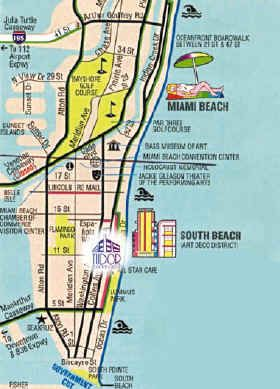 Pinterest South Beach Hotels Map on