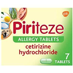 Piriteze Antihistamine Allergy Relief Tablets Cetrizine 30s Amazon Co Uk Health Personal Care In 2020 Allergy Tablets Allergy Relief Allergies