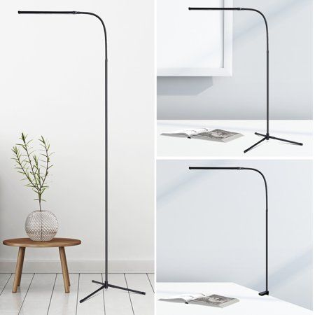 Slypnos 3 In 1 Ultra Slim Led Floor Lamp Flexible Dimmable Gooseneck Desk Lamp With C Clamp And Tripod Base Us Led Floor Lamp Living Room Lighting Floor Lamp