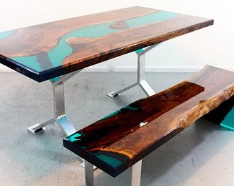 Resin River Dining Table In 2020 Resin Furniture Walnut Dining