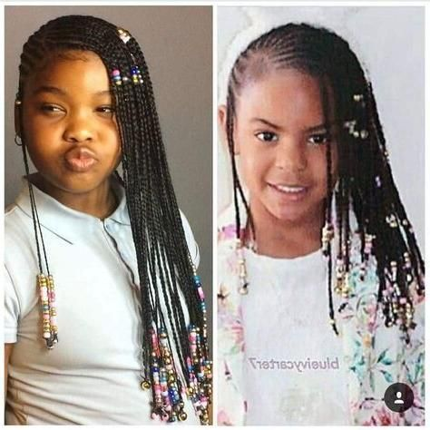 Beyonce Knowles Daughter Blue Ivy Carter Lemonade Braids Long Cornrows Braids On Thick Type 4 Natural Hai Braids With Beads Old Hairstyles Long Hair Styles Men