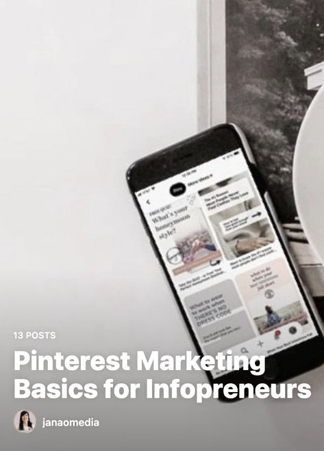 Pinterest Marketing Basics Guide for Infopreneurs, Online Coaches & Course Creators!