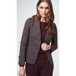 Jersey Blazer In Bordeaux Navy Beige Gemustert Windsor Hochzeitskleiderhakeln 1000 In 2020 Fashion Blazer Blazer Outfits