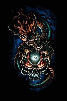 Dragons And Skulls Wallpapers