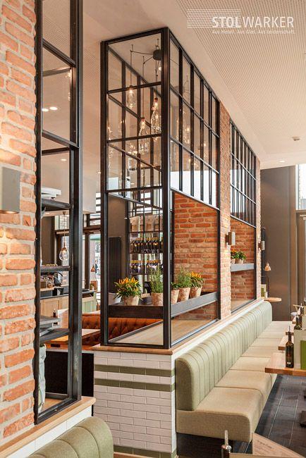 Stahl Glas Trennwand Idei Restaurante Raumteiler Trennwand Und