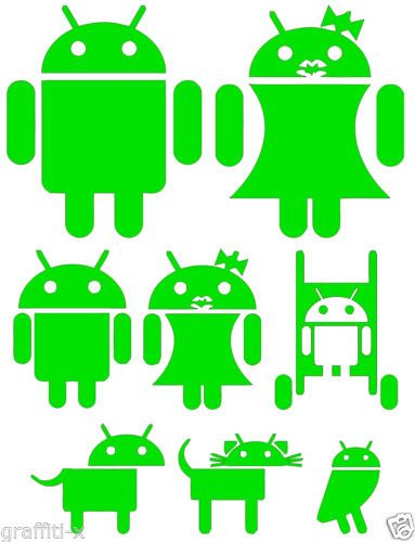 Android Family Decal Set Stickers EBay Stickersdecal - Family car sticker decalsfamily car decals ebay