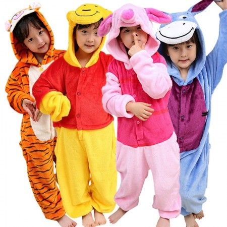 Disney Girls Winnie The Pooh Pyjamas Tigger Eeyore Piglet Younger Older Sizes