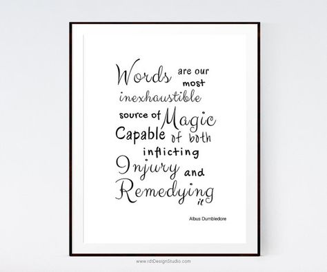 Harry Potter Poster Words Are Inspirational Quote