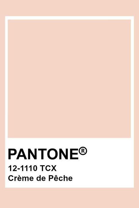 Pantone Peach Cream #creme #pantone #peche