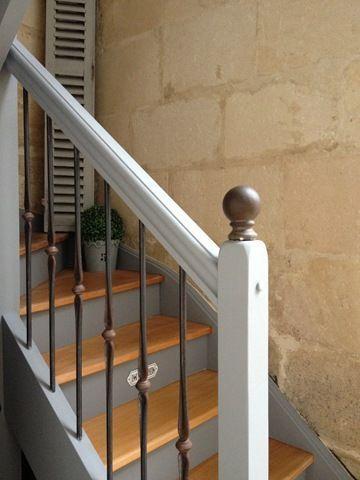 Peindre un escalier en bois Escalier peint Pinterest