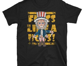 Floss dance like Boss Uncle Sam 4th of July Short-Sleeve Unisex T