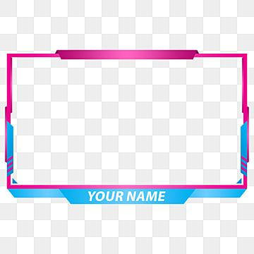Blue Cyan Twitch Screen Overlay Face Streaming Design Twitch Png Transparent Clipart Image And Psd File For Free Download Logo Design Video Graphic Technology Overlays