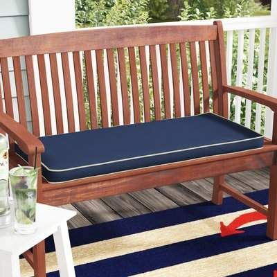 Beachcrest Home Indoor Outdoor Sunbrella Bench Cushion Wayfair Sunbrella Bench Cushion Outdoor Chaise Lounge Cushions Bench Cushions