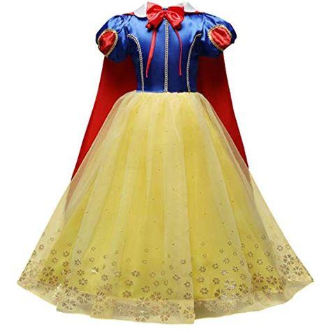 Abito Cerimonia 3 Anni.Obeeii Abito Principessa Biancaneve Carnevale Costumi Snow White