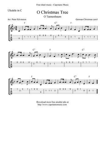 O Tannenbaum Download Kostenlos.O Christmas Tree O Tannenbaum Ukulele Sheet Music Free