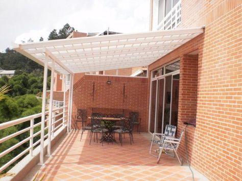 Terraza on pinterest pergolas retractable awning and for Techos de madera para patios