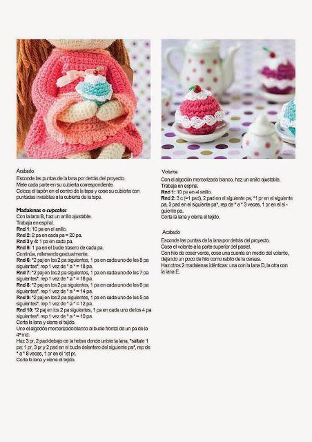 Crochê Gráficos De Bonecas Amigurumi Princesa+ Frete Grátis - R ... | 640x452