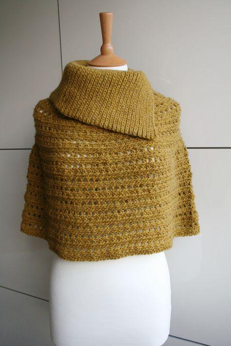 Crochet pattern crochet poncho pattern cowl crochet by LuzPatterns $4.99
