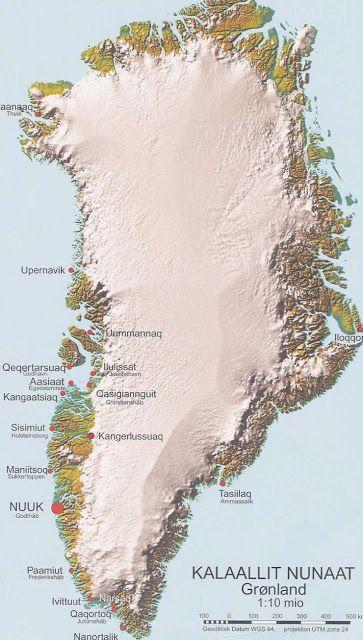 Gronland Geografiske Kort Over Gronland Dansk Encyklopaedi
