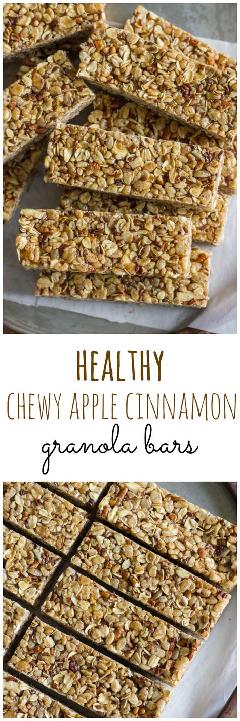 Healthy Chewy Apple Cinnamon Granola Bars Recipe Snacks - bar f r k che