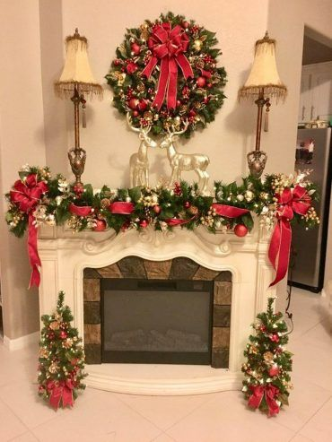 42 Most Beautiful Christmas Fireplace Decoration Ideas With