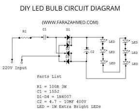 Diy Home Made 6w Led Bulb With Images Led Bulb Diy Energy