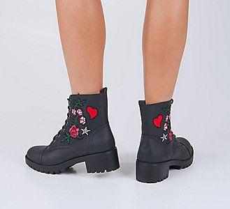 Haftowane Trapery Damskie Graceland 1111532 Deichmann Com Short Boots Rubber Rain Boots Boots